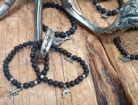 bracelet Lava / Onyx