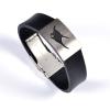 Armband mit Motiv schwarz