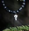 Armband Lava /Onyx mit Titan-Anhänger